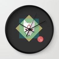 okami Wall Clocks featuring Okami by Sun Dai