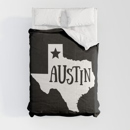 Austin Texas Map State Home Lone Star Pride Comforters