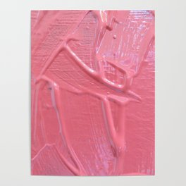 Pink Paint Texture Painting Poster