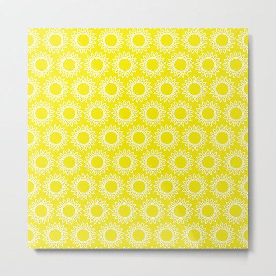 Sun Yellow Pattern- Beach Sun - Mix and Match with Simplicity of Life Metal Print