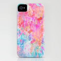 Floral Blush Slim Case iPhone (4, 4s)