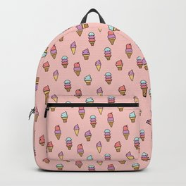 Summer Ice Cream Cone Pattern Backpack