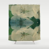 cherry blossom Shower Curtains featuring Cherry Blossom by pASob