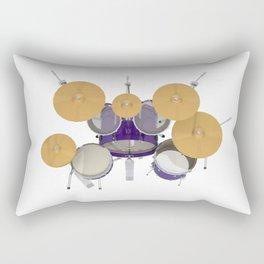 Purple Drum Kit Rectangular Pillow