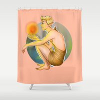 niall horan Shower Curtains featuring Elf!Niall by harryflowerchild