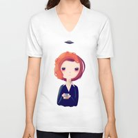 dana scully V-neck T-shirts featuring Dana by Nan Lawson