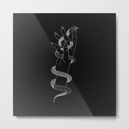 Daydream - Snake Illustration Metal Print