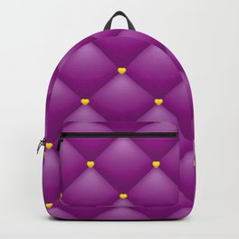purple leather pattern Backpack