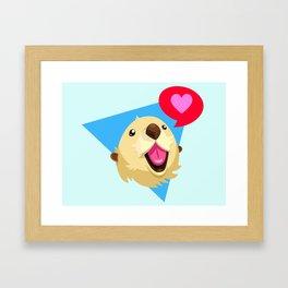Otters Love Framed Art Print