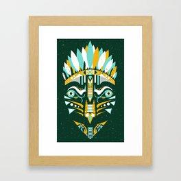 Indian mask II Framed Art Print