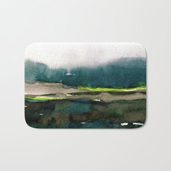 layers of colour 1 Bath Mat