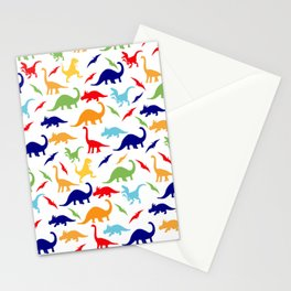 Colorful Dinosaurs Pattern Stationery Cards