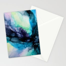 Sweet Pea Pastel Abstract Chaos | Calming Fluid Art Stationery Cards