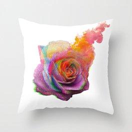 vibrant rose Throw Pillow