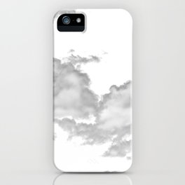 clouds white iPhone Case