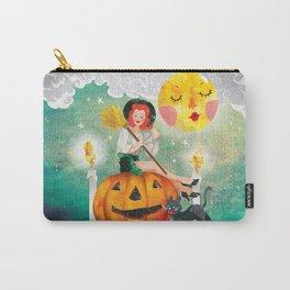 Pumpkin Girl Carry-All Pouch