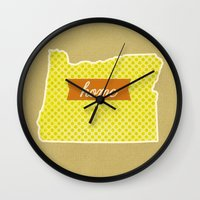 oregon Wall Clocks featuring Oregon by Embellished Key