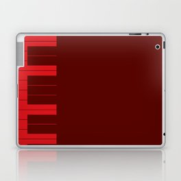 Red Piano Keys Laptop & iPad Skin