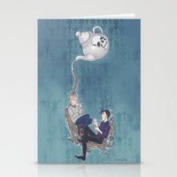 johnlock Stationery Cards featuring Johnlock Teatime by enerjax