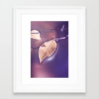 poem Framed Art Prints featuring LIGHT POEM by INA FineArt