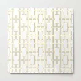 Simply Mid-Century in Mod Yellow Metal Print