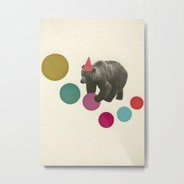 Birthday Bear Metal Print