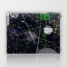 Abstract Black and White Etching Design Laptop & iPad Skin