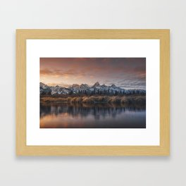Reflections under the Tetons Framed Art Print