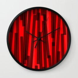 Geometric Black Red Painting Wall Clock