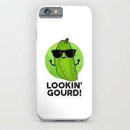 Lookin Gourd Cute Cool Veggie Pun iPhone Case
