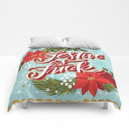 Pretty Sweary Holidays: Festive as Fuck Comforters