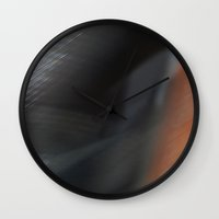 blur Wall Clocks featuring Blur by Jeffrey J. Irwin