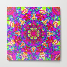 Abstract Flower AA YY BB Metal Print