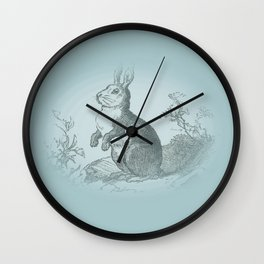 Bunny Rabbit {teal} Wall Clock