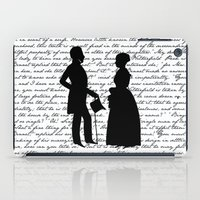 pride and prejudice iPad Cases featuring Pride and Prejudice design - White by Evie Seo
