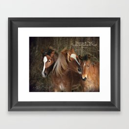 Cuddly buddies Framed Art Print