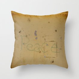 Peace Grafitti Throw Pillow
