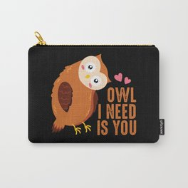 Cute owl love saying romance relationship Carry-All Pouch