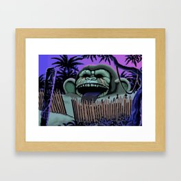 Three headed monkey Framed Art Print
