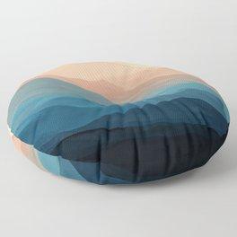Blue Waves In Desert Peaks Floor Pillow