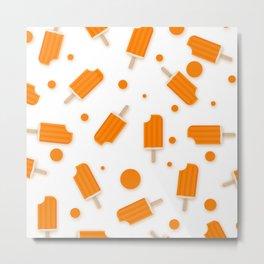 Orange Cream Metal Print