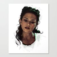 melissa smith Canvas Prints featuring Melissa by @cuisle