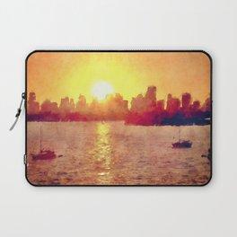 Sunset Over Miami Florida Laptop Sleeve