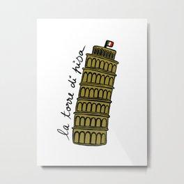 La Torre di Pisa Metal Print