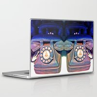 telephone Laptop & iPad Skins featuring Telephone by Parastar Arts