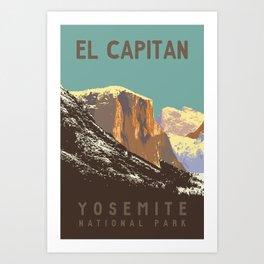 Yosemite's El Capitan Art Print