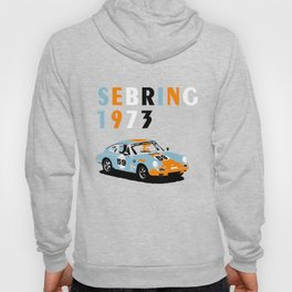 1973 Porsche Carrera RSR At Sebring 12 Hours Hoody