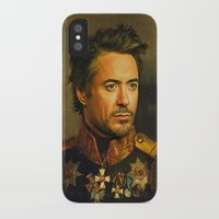 robert downey jr iPhone & iPod Cases featuring Robert Downey Jr. - replaceface by replaceface