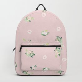 pink florals Backpack