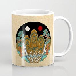 Minhwa: Sun, Moon and 5 Peaks: King's painting C_2 Type Coffee Mug